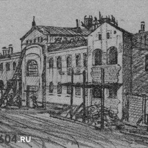 """Ремонт здания. Рисунок из газеты """"Красное Знамя"""" №163 (2232) 21 июля 1926г."""