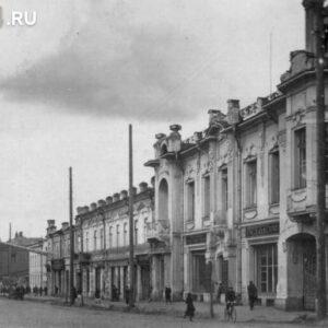 пр. Ленина 83. 1940-50-е гг. Автор: Абоев. Издательство: Союзпечать.